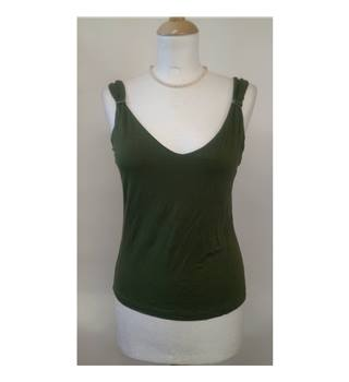 M&S Per Una Size 12  green vest top