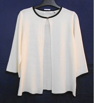 BNWOT M&S Classic ivory and black cardigan Size 8