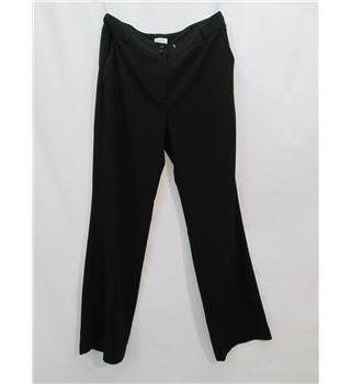 East Size: 10 Black Straight Leg Smart Trousers