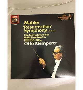 Mahler's 2nd Symphony, the Resurrection, conducted by Otto Klemperer with the Philharmonia Orchestra, vinyl LP Cat. no. SLS 806