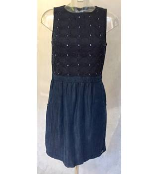 Superdry Dress Spirit of Japan Size  M Blue and Black Superdry - Size: M - Multi-coloured - Sleeveless