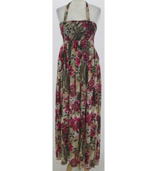 Unbranded - Size: One size: regular - Beige rose print dress