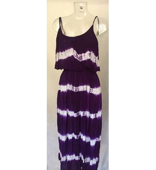 Pistachio Dress Long Dress Purple/ White Size L BNWT Pistachio - Size: L - Multi-coloured - Long dress