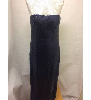 BNWT NEW Club L - Size: 12 - Blue - Evening strapless sequins dress