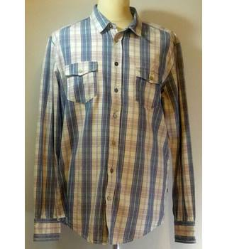 Hugo Boss - Size: XL - Blue Pink White Checked - Men's Long-sleeved shirt