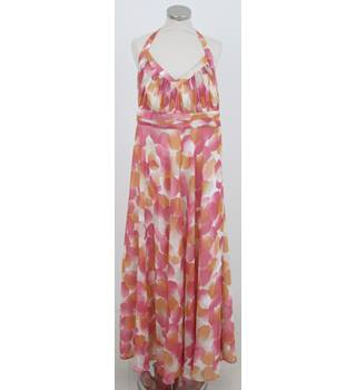 Jasper Conran - Size: 18 - Pink halter-neck maxi-dress