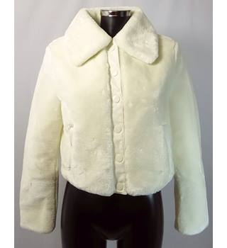 BNWOT M&S Limited Edition Faux Fur Jacket - Cream - Size 10 M&S Marks & Spencer - Size: 10 - Cream / ivory