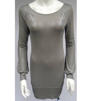 Miss Selfridge - Size 8 - Grey - Glittery - Drop Back - Jumper Dress