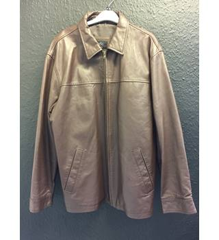 1860 brown leather jacket 1860 - Brown