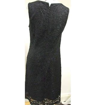 Classically Elegant M&S Black Sleeveless fully-lined dress M&S Marks & Spencer - Size: M - Black - Evening dress