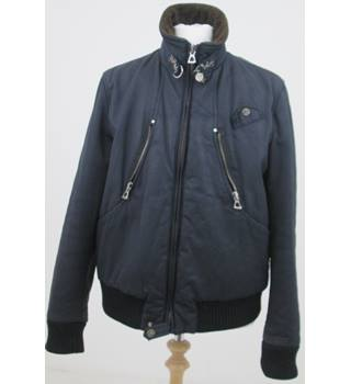 Mareiano size: L navy blue/brown collar jacket