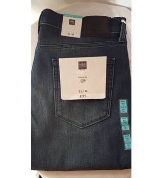 "BNWT M+S jeans size 34""w 31"" leg M&S Marks & Spencer - Size: 34"" - Blue - Jeans"