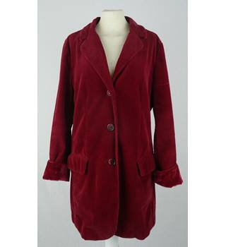 Jill - Size: 14 - Red - Cord Jacket