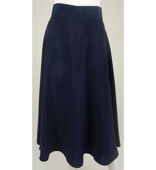 CLAUDE LEMA Navy Calf-Length Skirt NO Size but Waistband Measures 28""