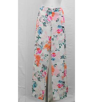 BNWOT Per Una multicoloured trousers Size 18 S