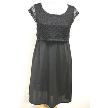 BNWT Lace-top Black Dress by Tom Tailor Denim Tom Tailor - Size: XS - Black - Knee length dress