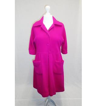 Hand Made - Size 18 (approx) - Pink Corduroy Coat
