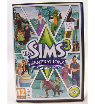 THE SIMS 3 GENERATIONS EXPANSION PACK. PEGI 12