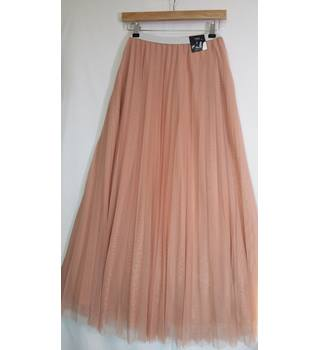 BNWT size 16 pleated peach M and S long skirt M&S Marks & Spencer - Size: 16 - Orange - Long skirt