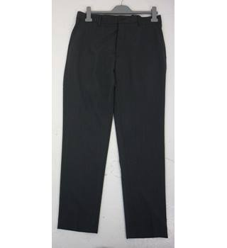 "M & S Size: L, 38"" waist, 31"" inside leg, slim fit Charcoal Grey Micro Dot Smart/Stylish Wool Blend Flat Front Trousers"