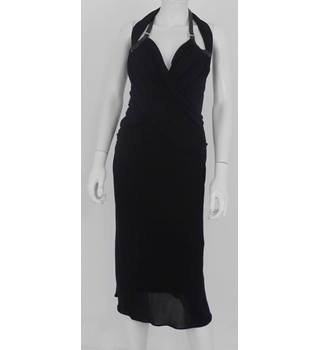 Karen Millen Size 6-8 Black Halter-Neck Dress