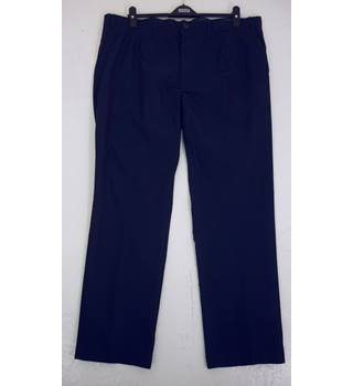 "M & S Size: XL, 42"" waist, 31"" inside leg, straight fit Navy Blue   Casual/Stylish Cotton Flat Front Chinos"