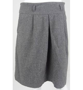 BNWT VILA Grey Wool Knee-Length Skirt Size S