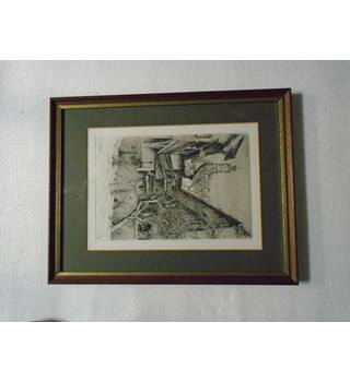 Paul Geissler Etching - Rothenburg