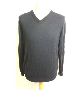REISS size M blue v neck jumper 100% wool REISS - Size: M - Blue - Jumper