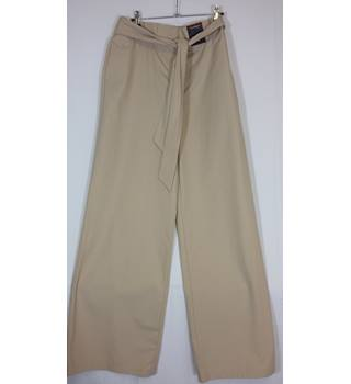 BNWT m and S wide leg size 18 beige trousers long M&S Marks & Spencer - Size: L - Beige - Trousers