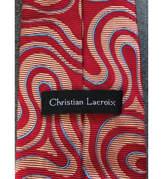 Christian Lacriox - Red and Orange Swirling Tie