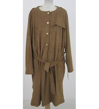 NWOT Per Una - Size: 12 - Tan Faux Suede Trench Coat 22
