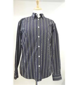 Men's Ben Sherman Purple, Grey and Black Striped Medium Long-Sleeved Shirt Ben Sherman - Size: M - Grey - Long sleeved