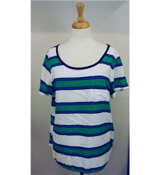 Gap large white and green striped top. Gap - Size: L - White