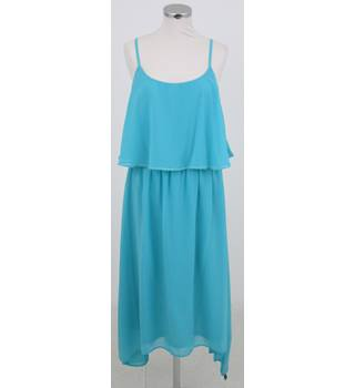 BNWT: Butterfly: Size 16: Turquoise blue strappy layered top dress