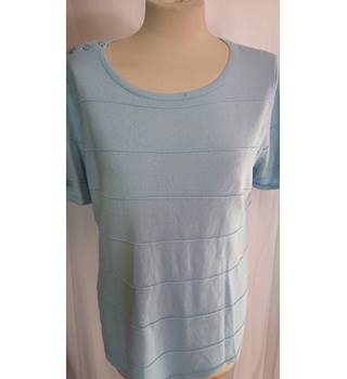BNWT marks and spencer size 14 short sleeved jumper pale blue M&S Marks & Spencer - Size: 14 - Blue - Jumper