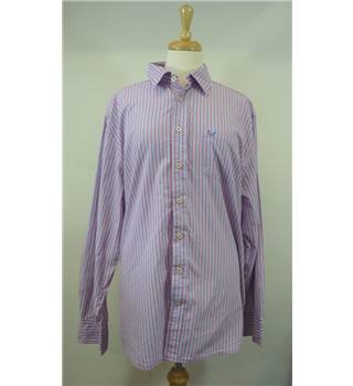 Crew Clothing company XXL tailored fit purple and pink striped shirt Crew Clothing Company - Size: XXL - Purple