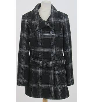 Next - Size: 10 - Black and White Checkered Coat