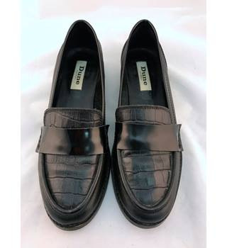 Dune  - Size 37 (UK 4.5) - Black - Leather - Loafers