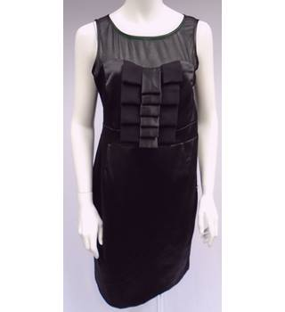 ET VOUS (Matalan) - Black Satin Dress - Size 14