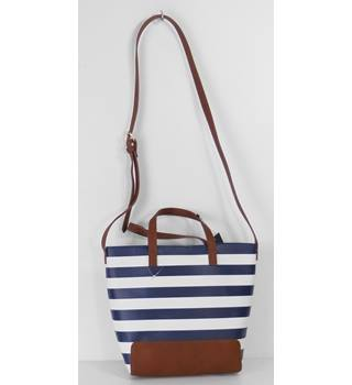 Marks & Spencer Navy/White Stripe Small Tote Bag