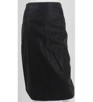 BNWT NEW LOOK Black Faux Leather Pencil Skirt UK Size 8 / Euro Size 36