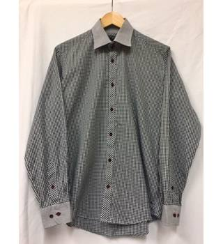Checkered Black & White Shirt Guide London - Size: M - Black - Long sleeved