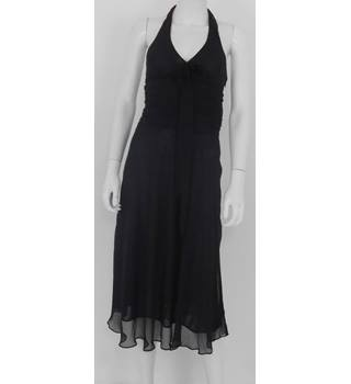 BNWT Zara Basic Size M  Black Sheer Halter-neck Dress