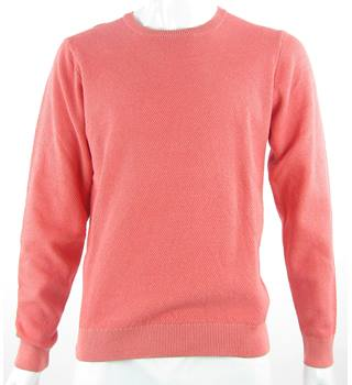 BNWT M&S Marks & Spencer - Size: L - Poppy Orange - Pure Cotton Jumper
