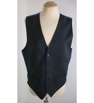 "M & S Size: M, 38"" Chest, regular fit Charcoal Grey With Blue Rear Panel Casual/Stylish  Wool Rich Waistcoat"