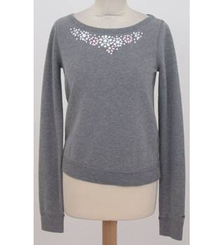 Hollister - Size: XS - Grey with Silver Embellishment Sweat Top