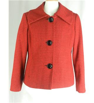 BM Collection Size 16 Red  with Black Casual Coat