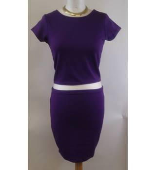 BNWT Dreams size 10 purple two piece top and skirt