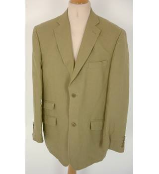 "Ted Baker Size: L, 42"" chest, tailored fit Dark Tan Brown Casual/Stylish ""Endurance""  Linen Single Breasted Jacket."